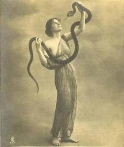 vintagewomanwithserpent